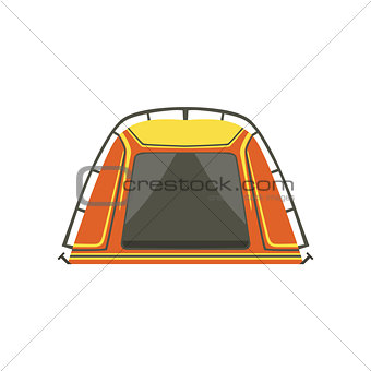 Small Orange Bright Color Tarpaulin Tent