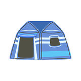Stripy Blue Bright Color Tarpaulin Tent