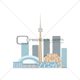 Toronto Skyline View As A National Canadian Culture Symbol