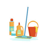 Floor Washing Household Equipment Set
