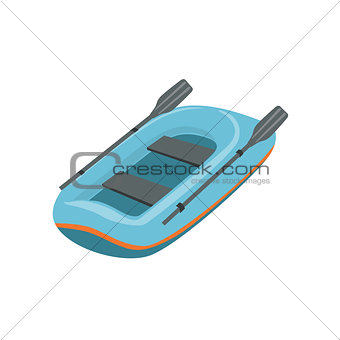 Blue Inflatable Dinghy Type Of Boat Icon