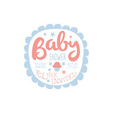 Baby Shower Invitation Design Template With Cupcake