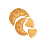 Croissants And Scones Bakery Assortment Icon