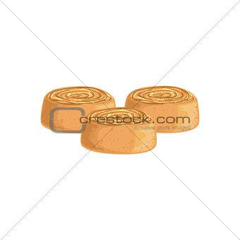 Cinnamon Buns Bakery Assortment Icon