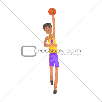 Basketball Player With The Ball Action Sticker