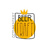 Craft Beer Square Frame Logo Design Template