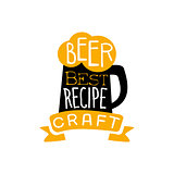 Best Recipe Beer Logo Design Template