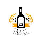 Craft Beer Oktoberfest Logo Design Template