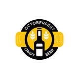 Craft Beer Logo Design Template With Bottle