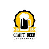Craft Beer Logo Design Template With Pint