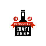 Oktoberfest Craft Beer Logo Design Template