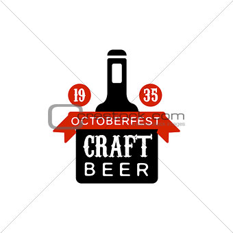 Oktoberfest Craft Beer Logo Design Template