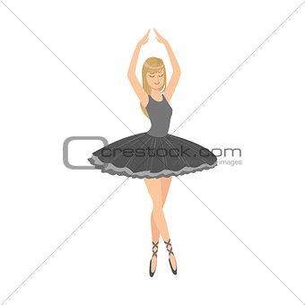 Balleria In Black Tutu Performing