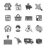Internet Shopping and Delivery Icons Set