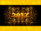 Twenty Seventeen sparkling gold mosaic