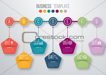Timeline infographics template