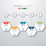 Modern infographics process template