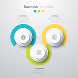 Vector illustration infographics three options