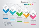 Vector illustration infographics five options