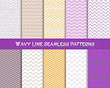 Vector wavy line seamless christmas patterns