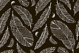 Feather seamless pattern for your design