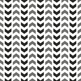 Tile vector pattern with grey and black arrows on white background