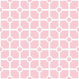 Pink and white vector tile pattern