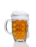 mug of beer on white background