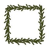 Christmas coniferous frame