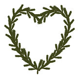 Christmas coniferous heart symbol