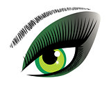 Vector Green Eye
