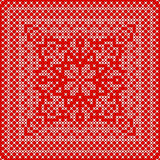 Embroidery card with cross stitch embroidered ornament.