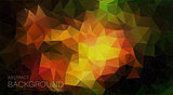Colorful triangle geometric background