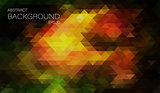 Hipster Color triangle background