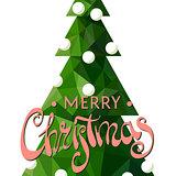 Festive Christmas tree on a white background