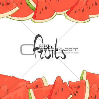 Slices of summer watermelon