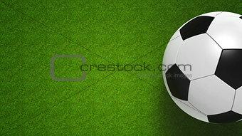 Football ball on field