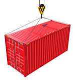 Cargo container hanging hook