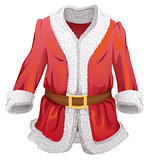 Red fur coat of Santa Claus