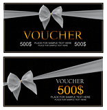 Gift Voucher Template For Your Business. Vector Illustration