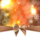 Abstract Beauty Christmas and New Year Background with Bow Ribbo