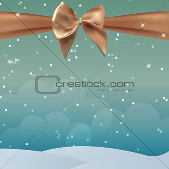 Abstract Beauty Christmas and New Year Background with Bow Ribbon