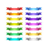 vector ribbons set
