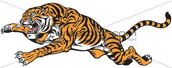 tiger jump tattoo