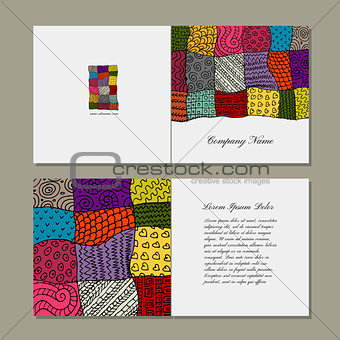 Greeting card, patchwork carpet design