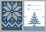Vector Christmas background. Illustration of Knitted Sweater Greeting card for Design, Website, Background, Banner. Christmas Flyer Template. Holiday Winter gift tags. Scandinavian style.