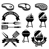 Barbecue party - bbq and grill elements