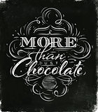 Poster chocolate black