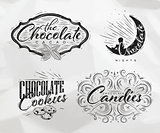 Set chocolate labels