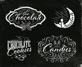 Set chocolate labels black